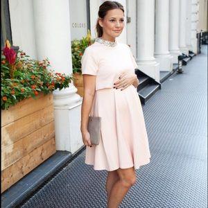 NEW ASOS Modest Maternity Skater Dress Light Pink